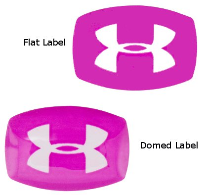 Domed Labels vs Flat Labels