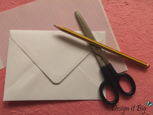 Craft items that you will need to make the envelope liner.