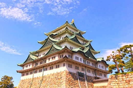 Nagoya Castle is famous for several things, one of which being the golden carps atop its keep.