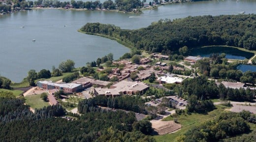 Aerial view of Hazelden Grounds.