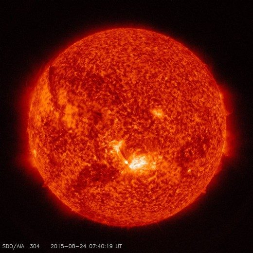 The Sun's image captured by NASA's SDO