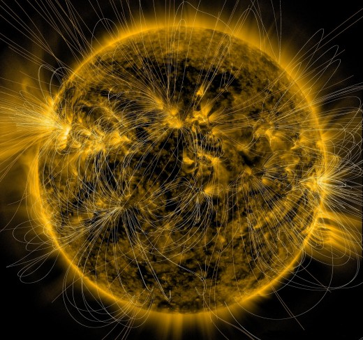 The Sun's magnetic map created by NASA