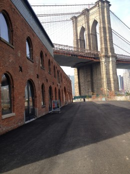 The St. Anns Warehouse theater-- great thing to do on a visit to Brooklyn Bridge.