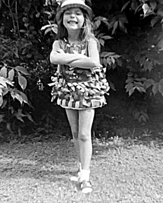Me as a child (in fancy dress at Butlins holiday camp) when I was about eight. I was such a skinny little thing!