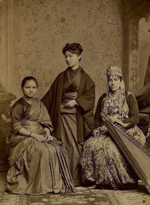Anandibai Joshee from India  Kei Okami from Japan  Sabat Islambooly from Syria All attended Elizabeth Blackwell's Women's Medical College