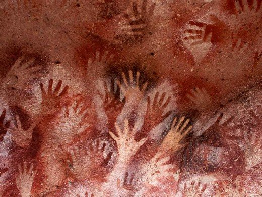 This piece is named 'Cueva las Manos', also translated into 'Cave of Hands', dating back from 13,000 to 9,000 years ago this piece was found in South America in a series of caves along Argentina.  I chose this piece because it really differentiates