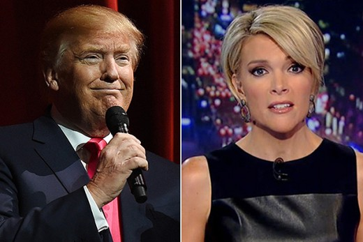 Donald Trump and Megyn Kelly..