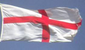 Flag of St George:  The English fly this on sporting events but not so much for our national day.
