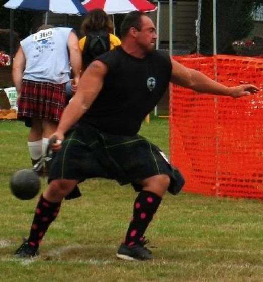Highland games:  Scots people also embrace and are proud of their culture.