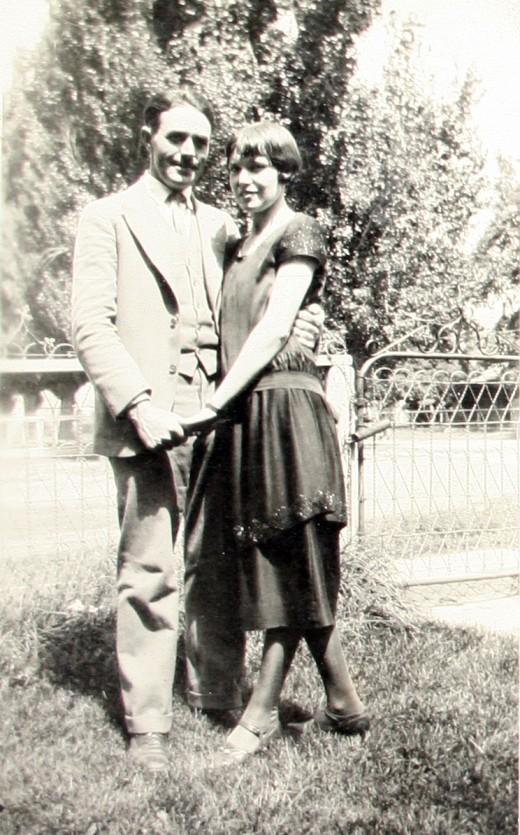 Grandpa Hugh Cheney and Grandma Ella Gladys Anderson (Barker)