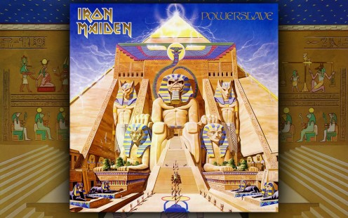 Powerslave was one of the albums in the 1980's that helped Iron Maiden establish themselves as a truly great band. On the left and right sides of the photo are beautiful gold steps.
