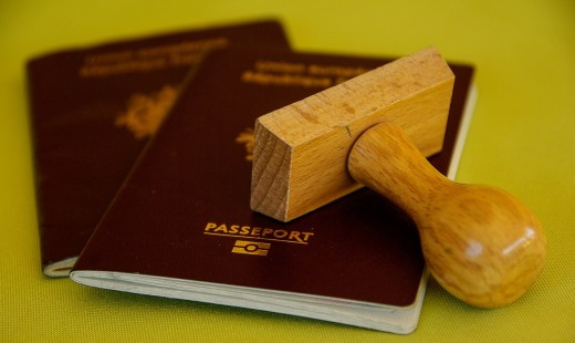 An approved passport processed by a travel agency.