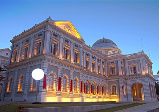 National Museum of Singapore. One of the most eye catching colonial era structures in the city state.
