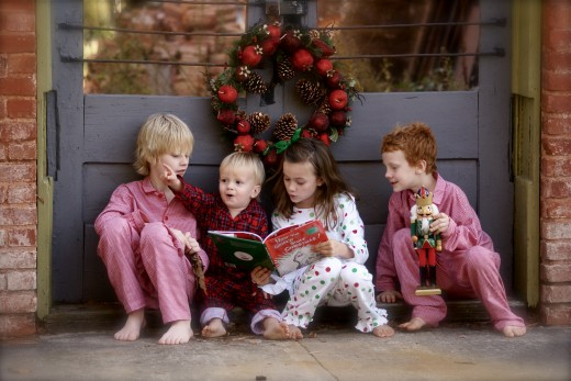 "Image your own children sitting, reading ""How the Grinch Stole Christmas"".  Thanks Dr. Seuss."