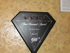 Another major award won by the Hotel du Pont that is posted outside of the restaurant.