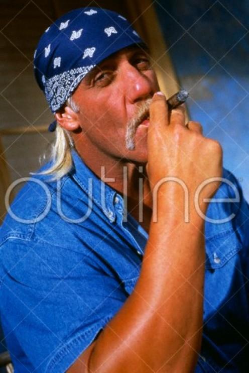 Arrogant Hulk Hogan in photo made in 1997.