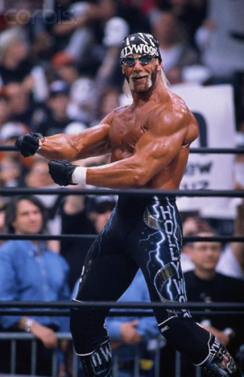 """Hollywood"" Hulk Hogan in action as head of nWo."