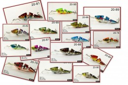 Akuna Bulk Pack 112 to 120 fishing lures crankbaits spoons and spinnerbaits (112 Crankbaits)