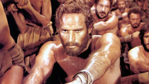 Ben-Hur a slave in the 1959 movie