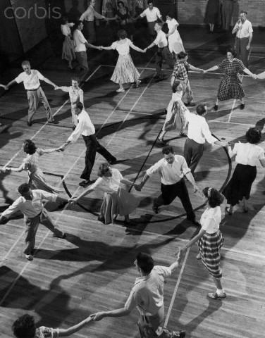 Square dancing at the YMCA Aug. 1, 1947.