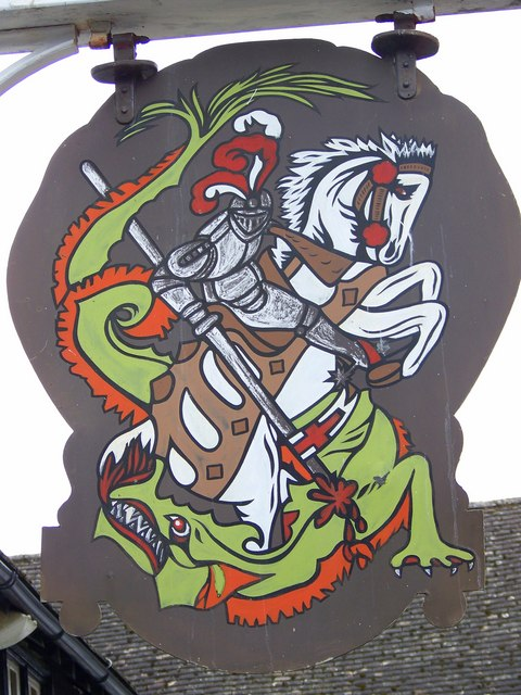 St George and the dragon from Wikimedia Commons