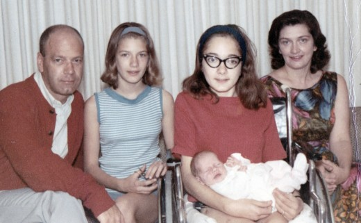My father, Bill, my sisters, Margie and Karen, and my mother, Joyce.  I'm in Karen's lap.