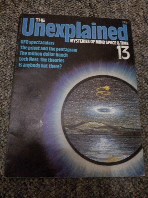 My treasured copy of The Unexplained. Eek!