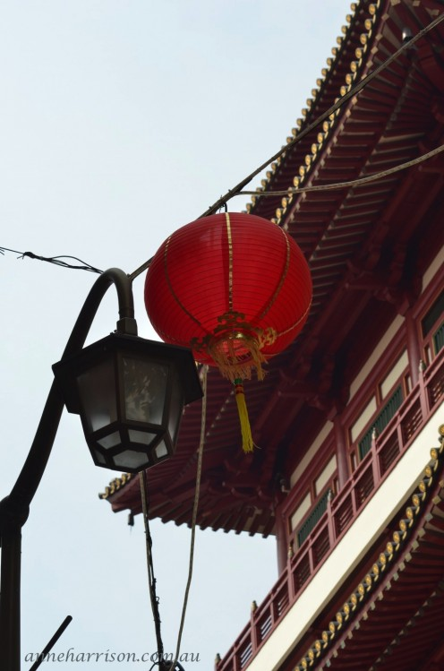 Lanterns outside the Buddha Tooth Relic Temple, Singapore