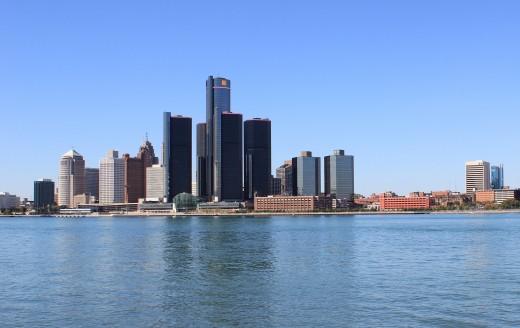 Metro Detroit skyline.