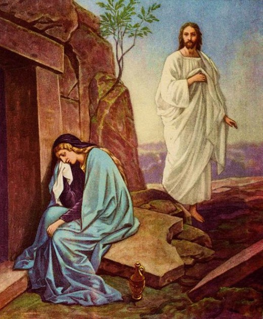 Jesus resurrected and Mary Magdalene