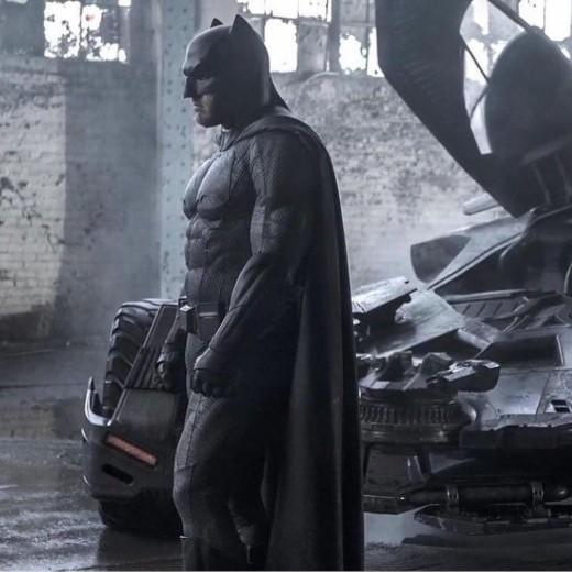 Ben Affleck playing a depressed Batman
