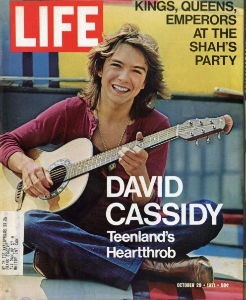 October 1971 Life Magazine David Cassidy Cover