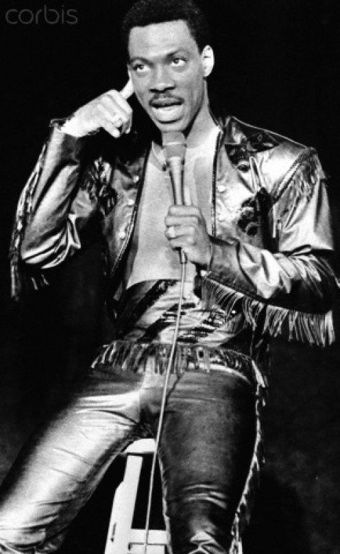 Eddie Murphy in one of his stand-up routines, April 1, 1985.