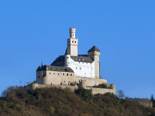 The Marksburg castle at Braubach, Germany