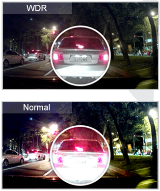 Viewing license plates at night is not a problem.