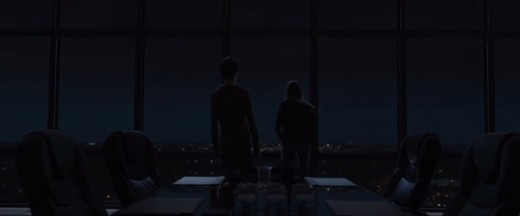 Margo & Quentin, in the first part of the movie, After they end their revenge night. they go to this building and stay together.
