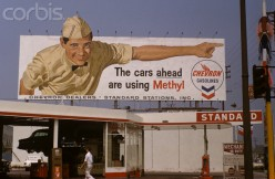 Even the billboards of their day used gas station attendants in the gas company's ads.