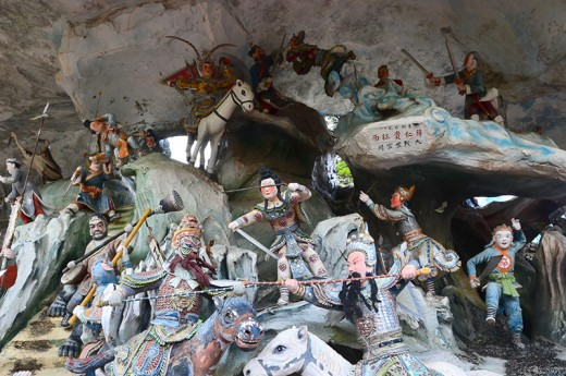 """Another diorama. This is of a battle scene from the classic story of """"Investiture of the Gods"""""""