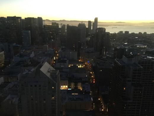 San Francisco views from Hilton Union Square Hotel