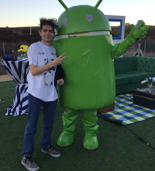 Alessio Ganci at the Google Athletics Recreation Field Park in Mountain View