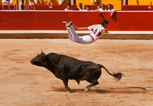 Many lonely people might consider being a bullfighter, but ignore any training. Another diversion to being lonely.