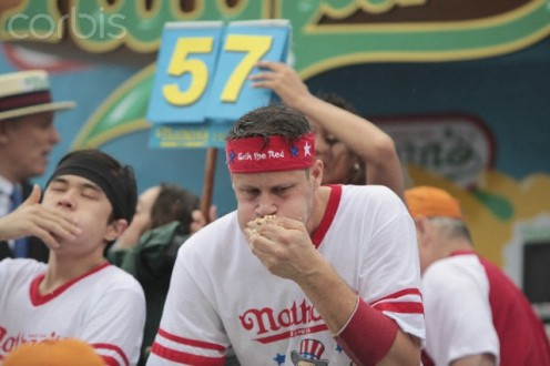 Trying to be like Joey Chestnut, competitive eater to get plenty of attention from others.