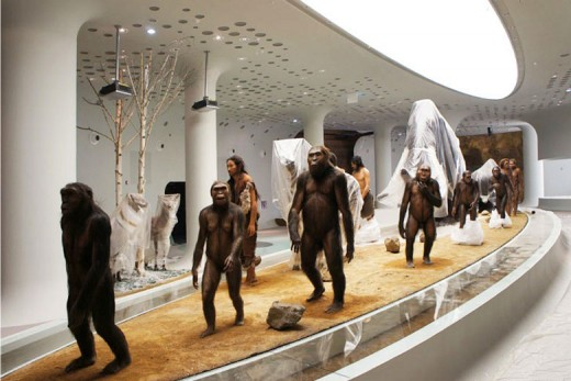 Prehistoric men and women at the Jeongok Museum South Korea Prehistory Museum by X-TU