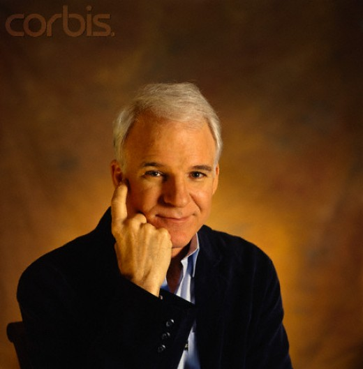 Steve Martin trying hard to appear serious.