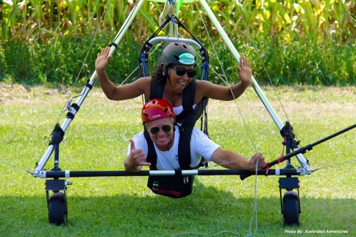 First Time Tandem Hang Gliding!