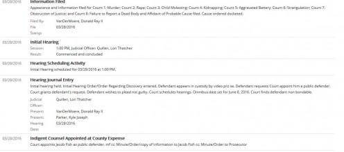 Kyle Joseph Parker's court docket