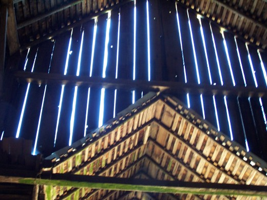 The cathedral of the barn, a holy place on a farm.