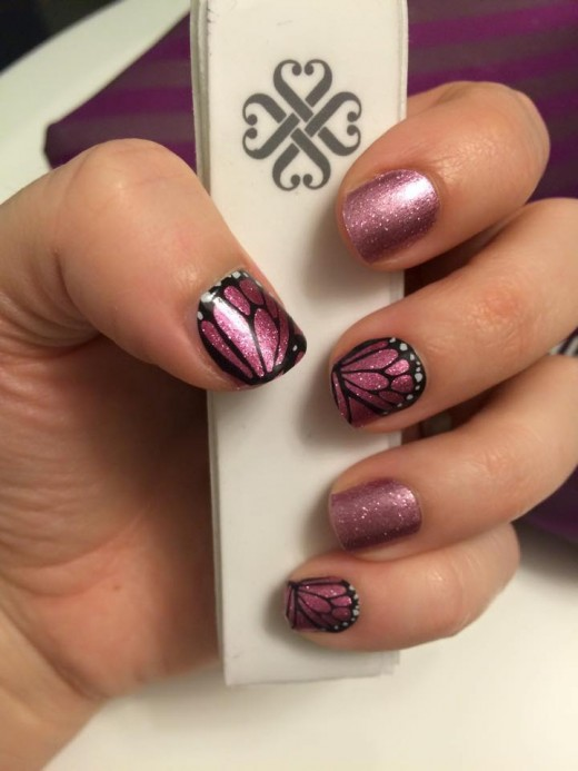 This is a picture of Jamberry Nails. They really have a whole catalog of nails to select from