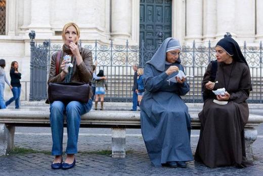 Julie Roberts in Eat Pray Love, a movies based on Elizabeth Gilbert's memoir.