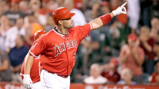 Albert Pujols with the Los Angeles Angels of Anaheim.
